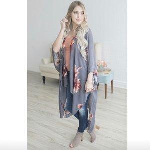 Last 1! NWT Floral Street Kimono Duster Boho Maxi